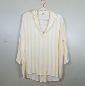 Umgee yellow striped Flowy top